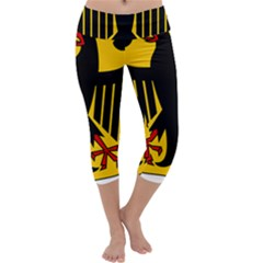 Coat Of Arms Of Germany Capri Yoga Leggings