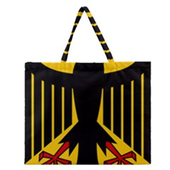 Coat Of Arms Of Germany Zipper Large Tote Bag