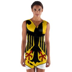 Coat Of Arms Of Germany Wrap Front Bodycon Dress