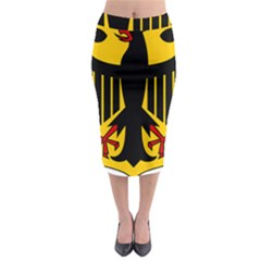 Coat Of Arms Of Germany Midi Pencil Skirt