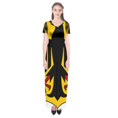 Coat Of Arms Of Germany Short Sleeve Maxi Dress