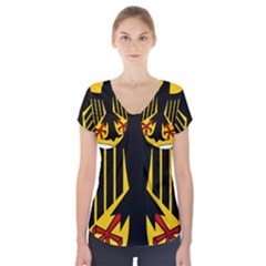 Coat Of Arms Of Germany Short Sleeve Front Detail Top
