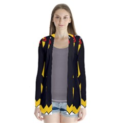 Coat Of Arms Of Germany Drape Collar Cardigan
