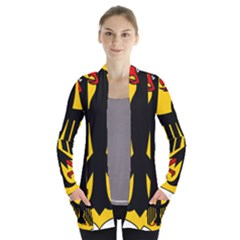 Coat Of Arms Of Germany Women s Open Front Pockets Cardigan(P194)