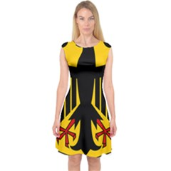 Coat Of Arms Of Germany Capsleeve Midi Dress