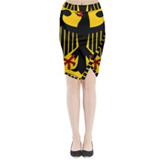 Coat Of Arms Of Germany Midi Wrap Pencil Skirt