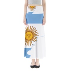 Flag Map Of Argentina Maxi Skirts