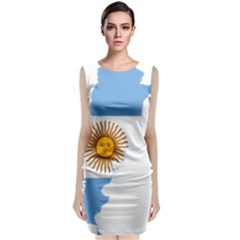 Flag Map Of Argentina Classic Sleeveless Midi Dress