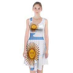 Flag Map Of Argentina Racerback Midi Dress
