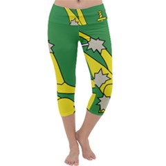 Starry Plough Flag Capri Yoga Leggings