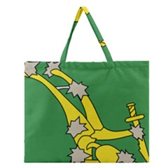 Starry Plough Flag Zipper Large Tote Bag