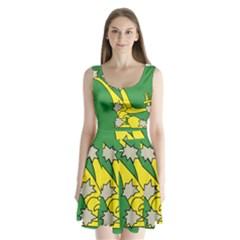 Starry Plough Flag Split Back Mini Dress