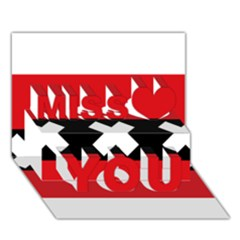 Flag Of Amsterdam Miss You 3D Greeting Card (7x5)