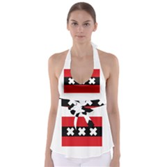 Flag Of Amsterdam Babydoll Tankini Top