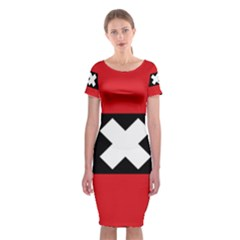 Flag Of Amsterdam Classic Short Sleeve Midi Dress