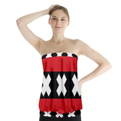Flag Of Amsterdam Strapless Top