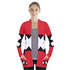 Flag Of Amsterdam Women s Open Front Pockets Cardigan(P194)