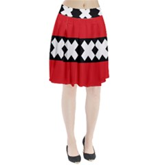 Flag Of Amsterdam Pleated Skirt