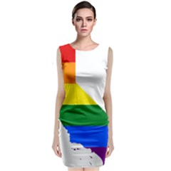 Lgbt Flag Map Of California Classic Sleeveless Midi Dress