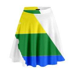 Lgbt Flag Map Of California High Waist Skirt