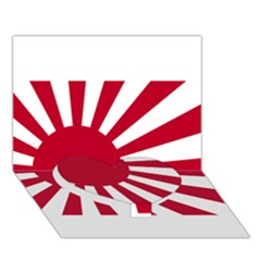 Ensign Of The Imperial Japanese Navy And The Japan Maritime Self Defense Force Heart Bottom 3d Greeting Card (7x5)