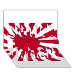 Ensign Of The Imperial Japanese Navy And The Japan Maritime Self Defense Force You Rock 3D Greeting Card (7x5)