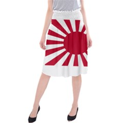 Ensign Of The Imperial Japanese Navy And The Japan Maritime Self Defense Force Midi Beach Skirt
