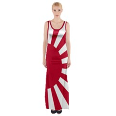 Ensign Of The Imperial Japanese Navy And The Japan Maritime Self Defense Force Maxi Thigh Split Dress