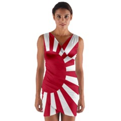 Ensign Of The Imperial Japanese Navy And The Japan Maritime Self Defense Force Wrap Front Bodycon Dress