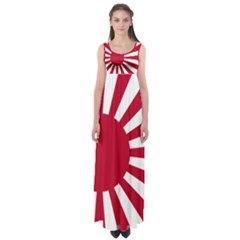 Ensign Of The Imperial Japanese Navy And The Japan Maritime Self Defense Force Empire Waist Maxi Dress