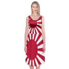Ensign Of The Imperial Japanese Navy And The Japan Maritime Self Defense Force Midi Sleeveless Dress