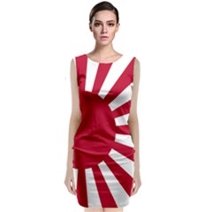 Ensign Of The Imperial Japanese Navy And The Japan Maritime Self Defense Force Classic Sleeveless Midi Dress