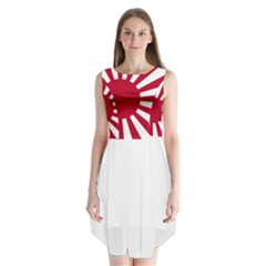 Ensign Of The Imperial Japanese Navy And The Japan Maritime Self Defense Force Sleeveless Chiffon Dress