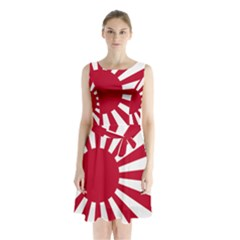 Ensign Of The Imperial Japanese Navy And The Japan Maritime Self Defense Force Sleeveless Waist Tie Dress