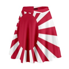Ensign Of The Imperial Japanese Navy And The Japan Maritime Self Defense Force High Waist Skirt