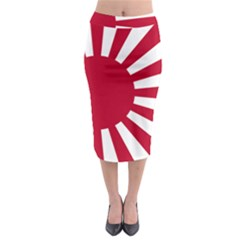 Ensign Of The Imperial Japanese Navy And The Japan Maritime Self Defense Force Midi Pencil Skirt