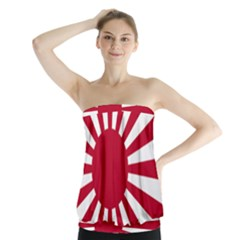 Ensign Of The Imperial Japanese Navy And The Japan Maritime Self Defense Force Strapless Top