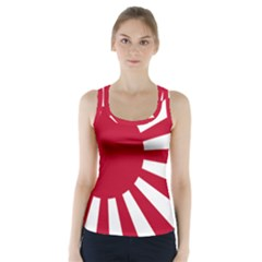 Ensign Of The Imperial Japanese Navy And The Japan Maritime Self Defense Force Racer Back Sports Top