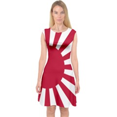 Ensign Of The Imperial Japanese Navy And The Japan Maritime Self Defense Force Capsleeve Midi Dress