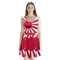 Ensign Of The Imperial Japanese Navy And The Japan Maritime Self Defense Force Split Back Mini Dress