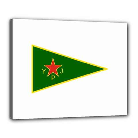 Flag Of The Women s Protection Units Canvas 20  x 16