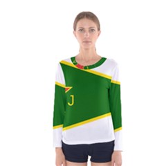 Flag Of The Women s Protection Units Women s Long Sleeve Tee