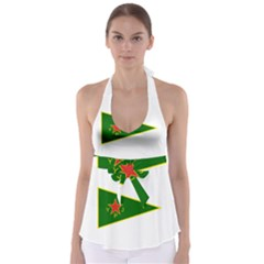 Flag Of The Women s Protection Units Babydoll Tankini Top