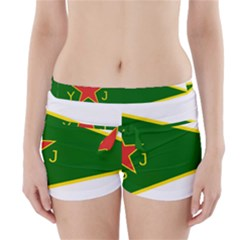 Flag Of The Women s Protection Units Boyleg Bikini Wrap Bottoms