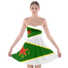 Flag Of The Women s Protection Units Strapless Dresses