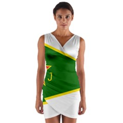 Flag Of The Women s Protection Units Wrap Front Bodycon Dress