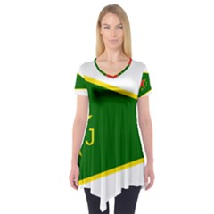 Flag Of The Women s Protection Units Short Sleeve Tunic