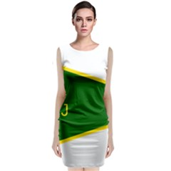 Flag Of The Women s Protection Units Classic Sleeveless Midi Dress