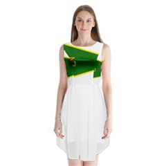 Flag Of The Women s Protection Units Sleeveless Chiffon Dress