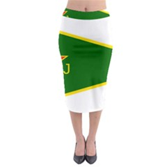 Flag Of The Women s Protection Units Midi Pencil Skirt